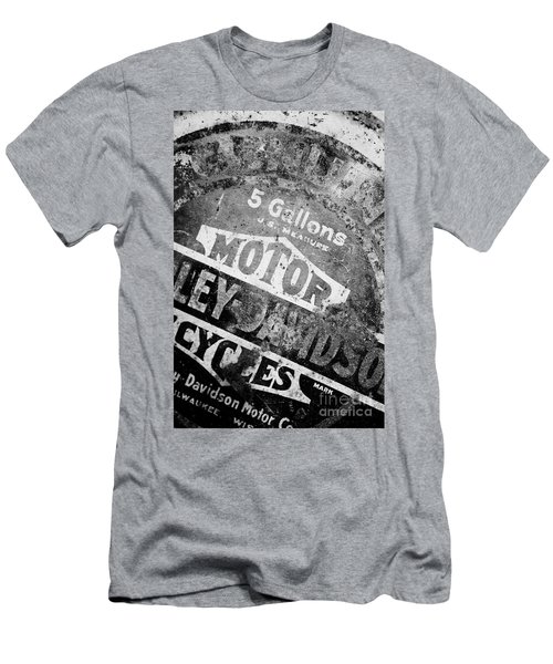 Men's T-Shirt (Slim Fit) featuring the photograph Five Gallon Motorcycle Oil Can by Wilma  Birdwell