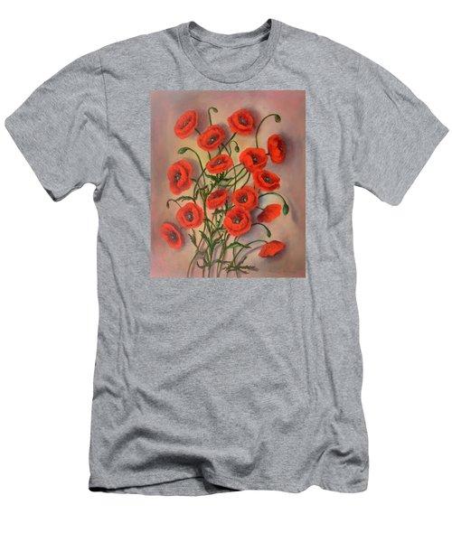 Flander's Poppies Men's T-Shirt (Slim Fit) by Randy Burns