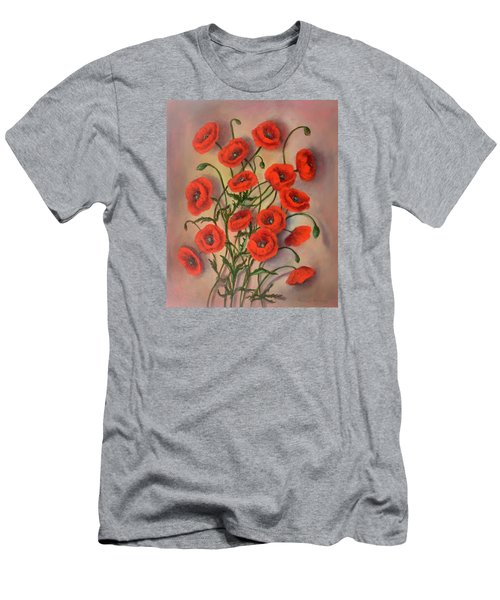 Flander's Poppies Men's T-Shirt (Athletic Fit)