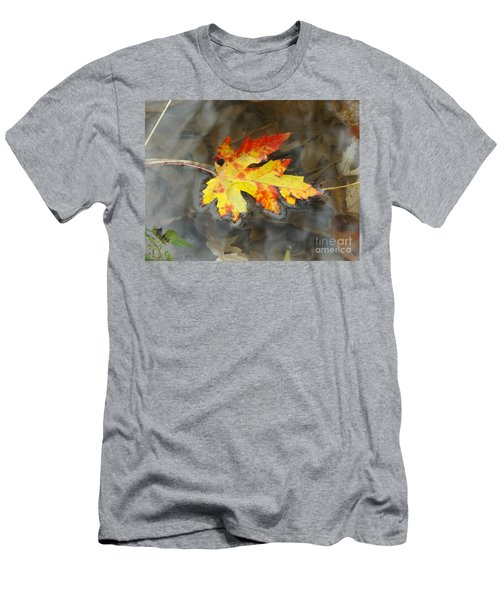 Floating Autumn Leaf Men's T-Shirt (Athletic Fit)