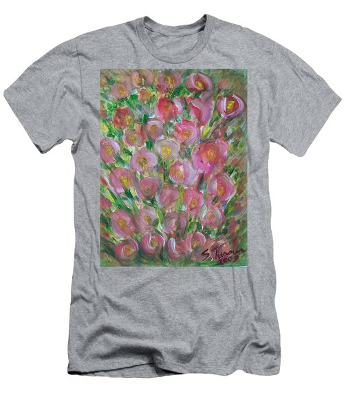 Floral Burst Men's T-Shirt (Athletic Fit)