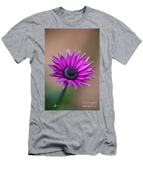 Flower-daisy-purple Men's T-Shirt (Athletic Fit)