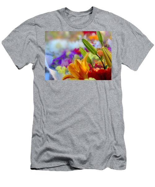 Flower Market 1 Men's T-Shirt (Athletic Fit)