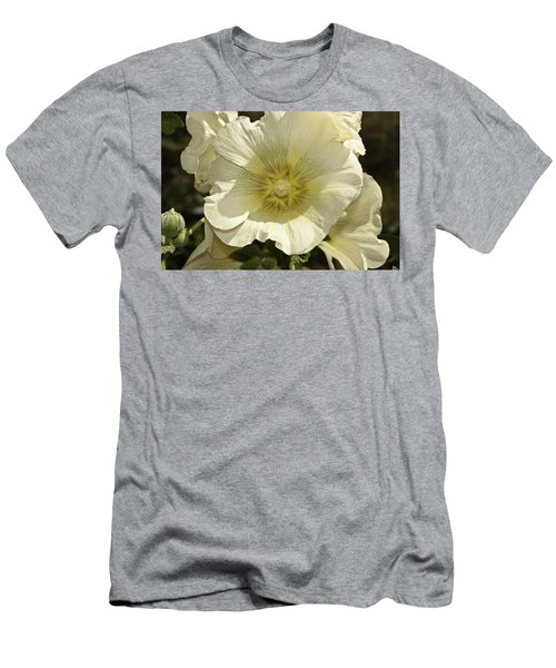Flower Petals Of A White Flower Men's T-Shirt (Athletic Fit)