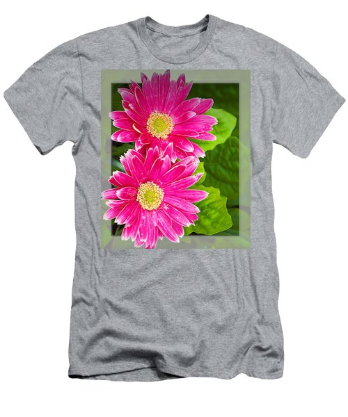 Flower1 Men's T-Shirt (Slim Fit) by Walter Herrit