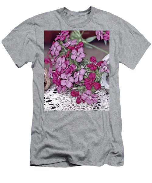 Flowers And Lace Men's T-Shirt (Athletic Fit)