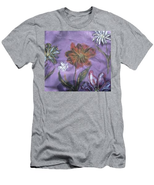 Flowers On Silk Men's T-Shirt (Athletic Fit)