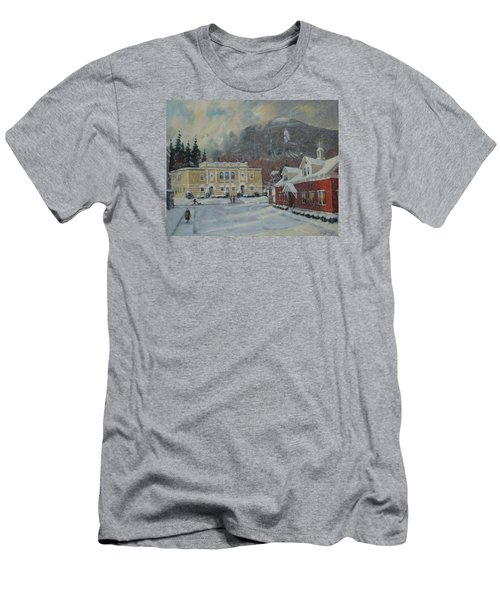Flurries Over Mount Greylock Men's T-Shirt (Athletic Fit)