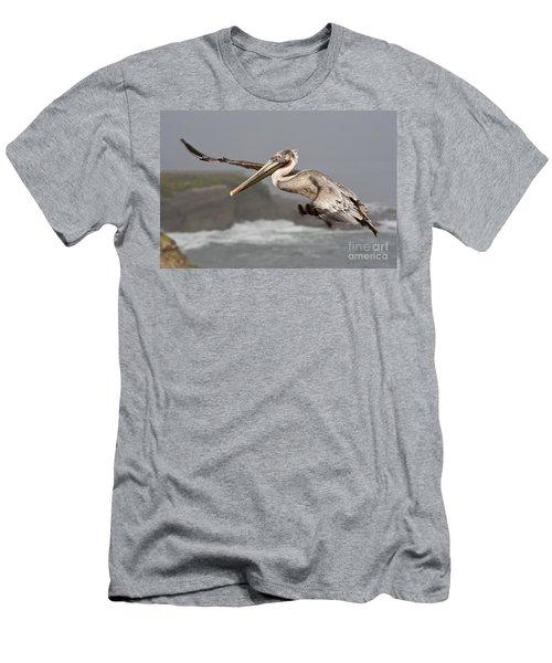 Flying Over La Jolla Men's T-Shirt (Slim Fit) by Bryan Keil