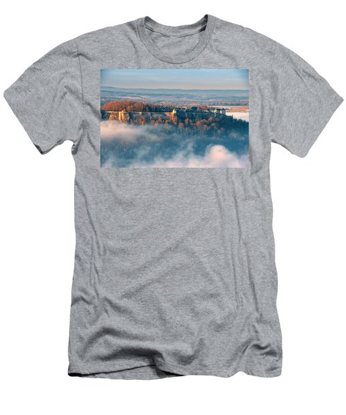 Fog Around The Fortress Koenigstein Men's T-Shirt (Athletic Fit)