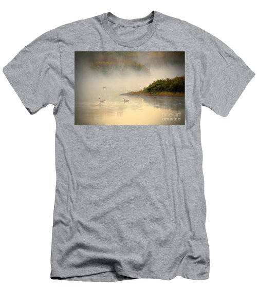 Foggy Autumn Swim Men's T-Shirt (Athletic Fit)