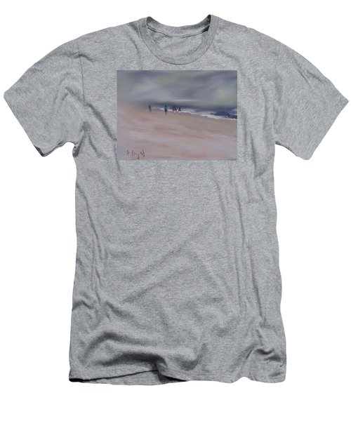 Fog On Folly Field Beach Men's T-Shirt (Athletic Fit)