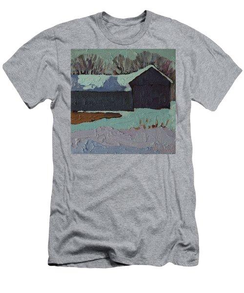 Foley Mountain Farm Men's T-Shirt (Slim Fit) by Phil Chadwick