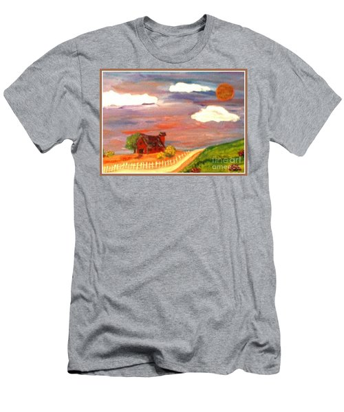 Men's T-Shirt (Slim Fit) featuring the painting Folk Art by Bobbee Rickard