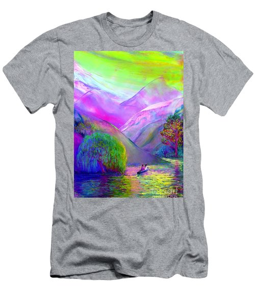 Men's T-Shirt (Slim Fit) featuring the painting  Love Is Following The Flow Together by Jane Small