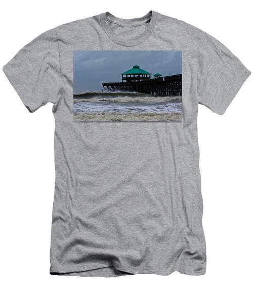 Folly Beach Pier During Sandy Men's T-Shirt (Athletic Fit)