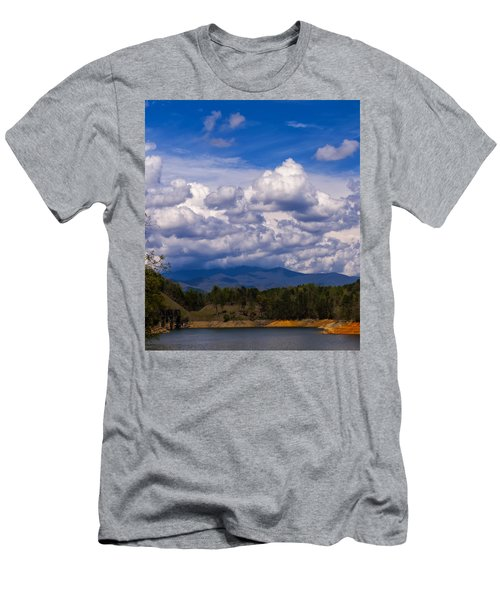 Fontana Lake Storm 2 Men's T-Shirt (Slim Fit) by Chris Flees