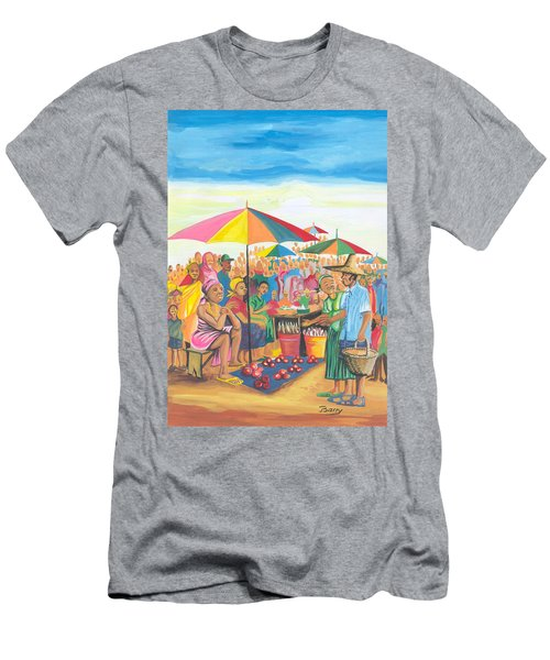 Food Market In Cameroon Men's T-Shirt (Athletic Fit)