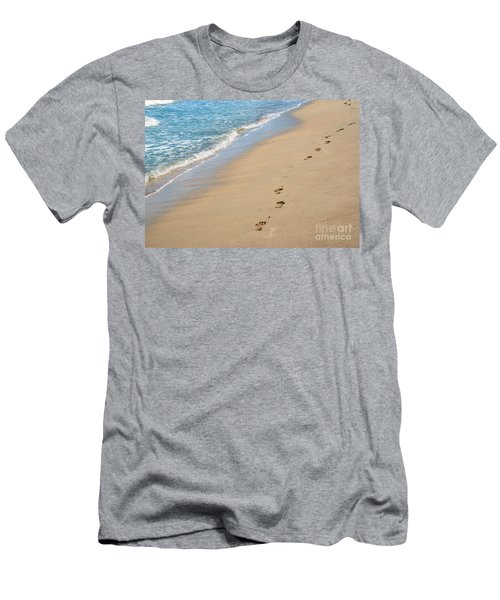 Footprints In The Sand Men's T-Shirt (Slim Fit) by Juli Scalzi