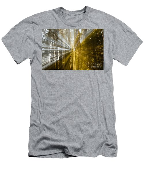 Forest Abstract Men's T-Shirt (Slim Fit) by Vivian Christopher