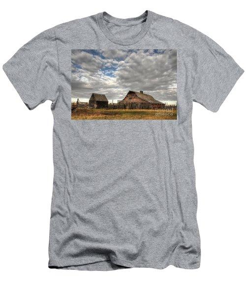 Found On The Prairies Men's T-Shirt (Slim Fit) by Vivian Christopher