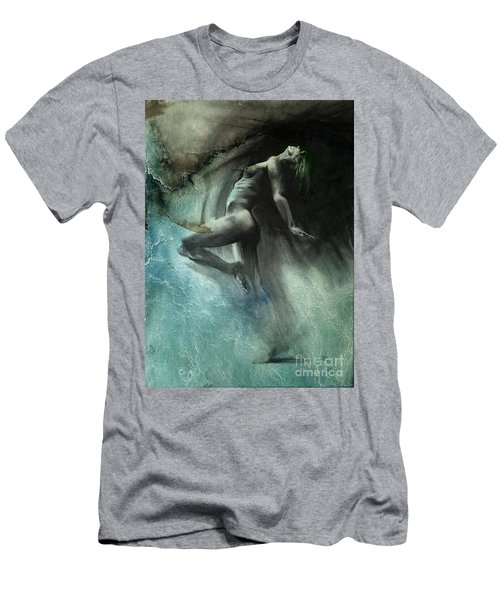 Men's T-Shirt (Slim Fit) featuring the drawing Fount I - Textured by Paul Davenport