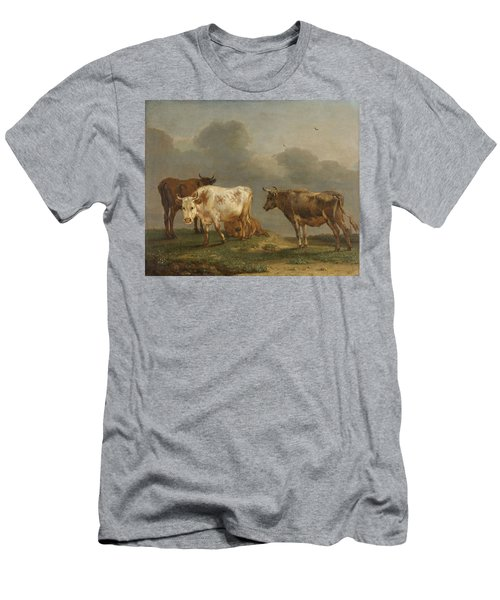 Four Cows In A Meadow Men's T-Shirt (Athletic Fit)