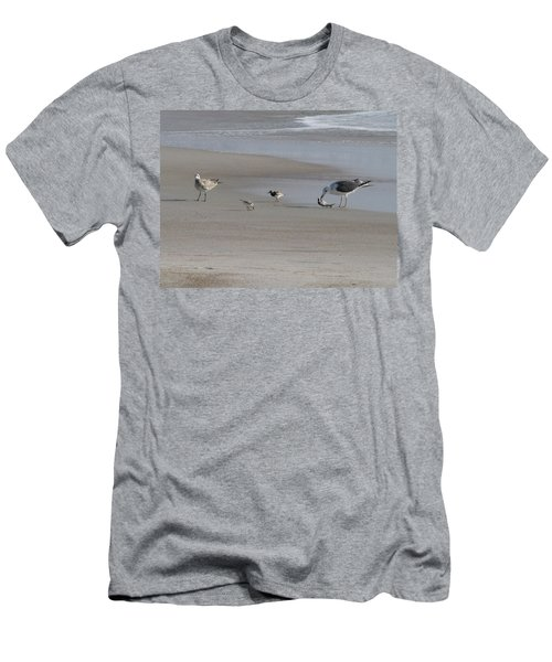 Four Feathers And A Fish Men's T-Shirt (Slim Fit) by Ellen Meakin