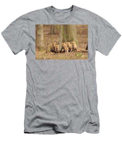 Fox Family Portrait Men's T-Shirt (Slim Fit) by Everet Regal