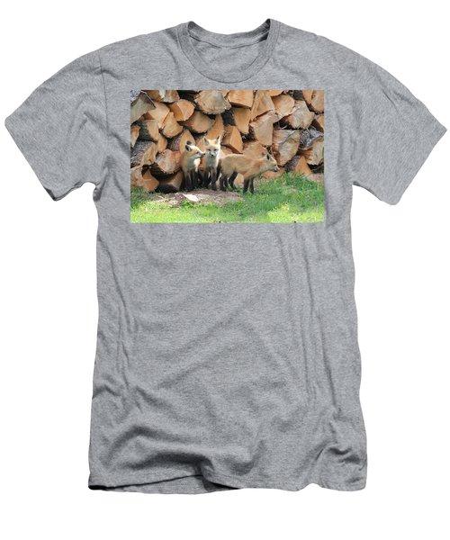 Fox Kits Men's T-Shirt (Athletic Fit)
