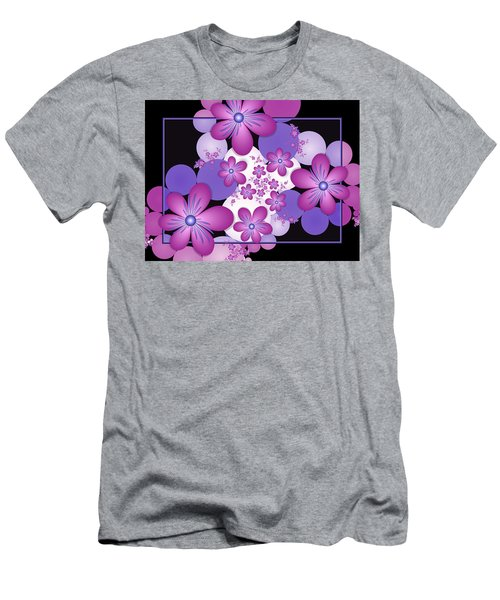 Fractal Flowers Modern Art Men's T-Shirt (Athletic Fit)