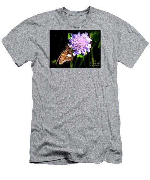 Silver Spotted Skipper Men's T-Shirt (Slim Fit) by Patti Whitten