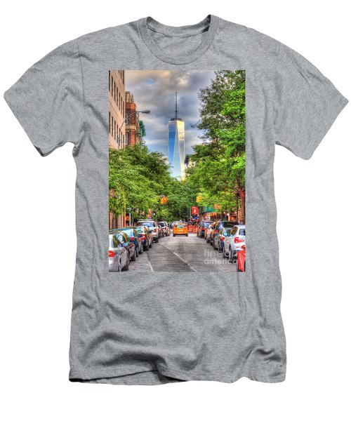 Freedom Tower Men's T-Shirt (Athletic Fit)