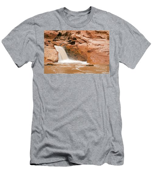 Fremont River Falls Capitol Reef National Park Men's T-Shirt (Athletic Fit)
