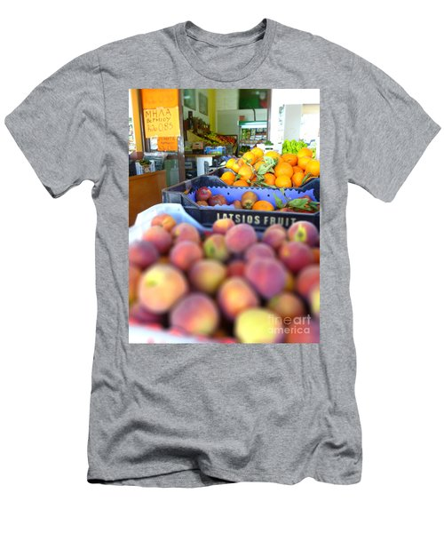 Men's T-Shirt (Slim Fit) featuring the photograph Fresh Fruit by Vicki Spindler