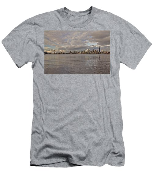 from Alki Beach Seattle skyline Men's T-Shirt (Athletic Fit)