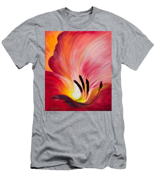 From The Heart Of A Flower Red I Men's T-Shirt (Athletic Fit)