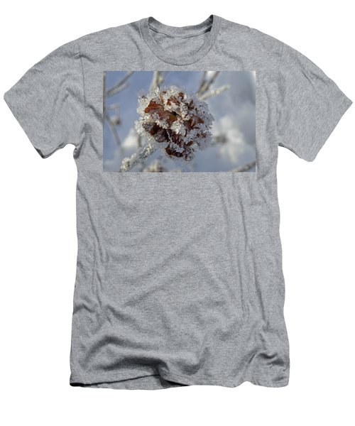 Frosted Willow Rose Men's T-Shirt (Slim Fit) by Cathy Mahnke