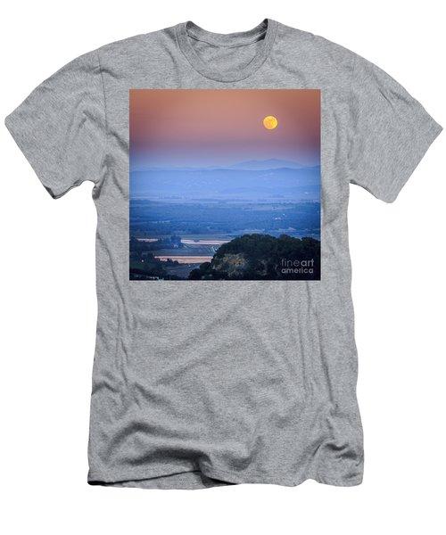 Full Moon Over Vejer Cadiz Spain Men's T-Shirt (Slim Fit) by Pablo Avanzini