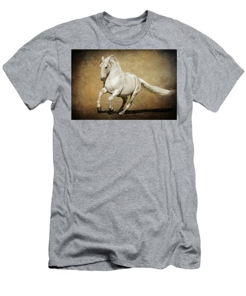 Men's T-Shirt (Slim Fit) featuring the photograph Full Steam Ahead by Wes and Dotty Weber