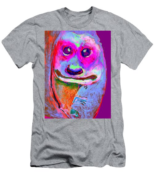Funky Meerkat Tunnel Art Print Men's T-Shirt (Athletic Fit)