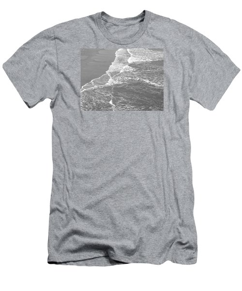 Galveston Tide In Grayscale Men's T-Shirt (Slim Fit) by Connie Fox