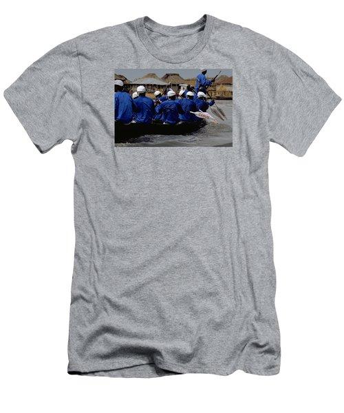 Ganvie - Lake Nokoue Men's T-Shirt (Slim Fit) by Travel Pics