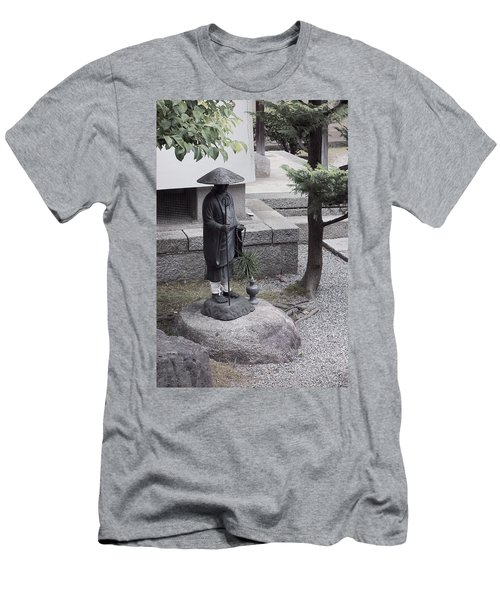 Zen Temple Garden Monk - Kyoto Japan Men's T-Shirt (Athletic Fit)