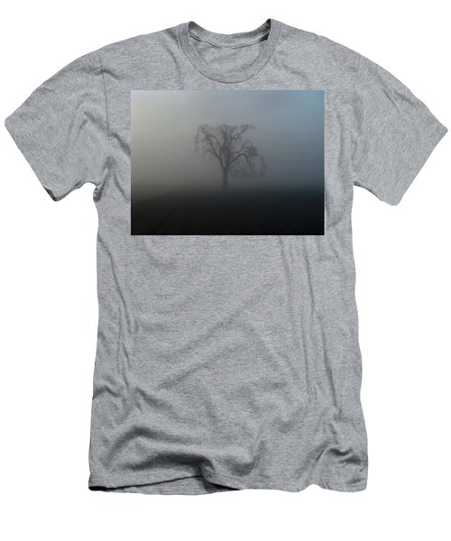 Men's T-Shirt (Slim Fit) featuring the photograph Garry Oak In Fog by Cheryl Hoyle