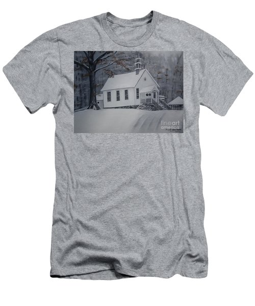 Gates Chapel - Ellijay - Signed By Artist Men's T-Shirt (Athletic Fit)