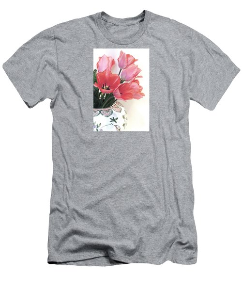 Gathered Tulips Men's T-Shirt (Athletic Fit)