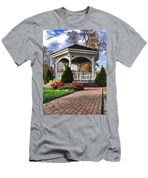 Gazebo At Olmsted Falls - 3 Men's T-Shirt (Athletic Fit)