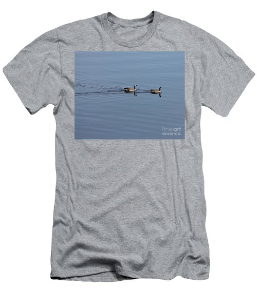 Geese Reflected Men's T-Shirt (Athletic Fit)