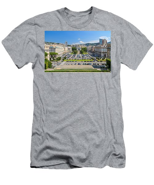 Genova - Piazza Della Vittoria Overview Men's T-Shirt (Athletic Fit)